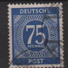 Germany 1946 - Scott 553 used- 75 pf, Numeral  (13-561)