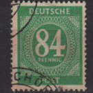 Germany 1946 - Scott 555 used - 84 pf, Numeral (13-567)