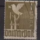 Germany 1947 - Scott 574 used - 1 m, Reaching for peace, dove  (13-606)
