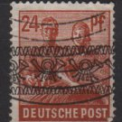 Germany 1948 - Scott 608 used - 24 pf, Reaping wheat Overprinted (13-630)