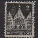 Germany 1948 - Scott 634 used - 2 pf, Frankfurt town Hall (13-633)
