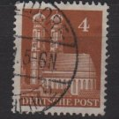 Germany 1948 -Scott 635 used- 4 pf, Our Lady's Church Munich  (13-635)