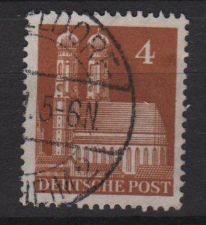 Germany 1948 -Scott 635 used- 4 pf, Our Lady's Church Munich  (13-635)