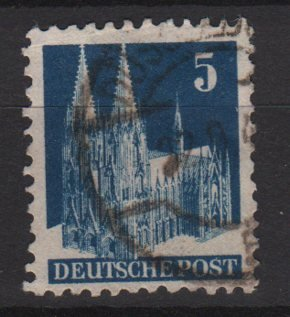 Germany 1948 - Scott 636 used - 5 pf, Cologne Cathedral (13-637)