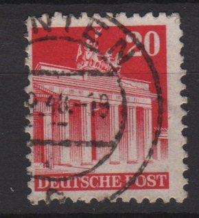 Germany 1948 -Scott 646 used- 20 pf, Brandenburg Gate Berlin (13-646)