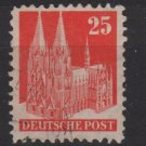 Germany 1948 - Scott 648 used - 25 pf, Cologne Cathedral (13-647)