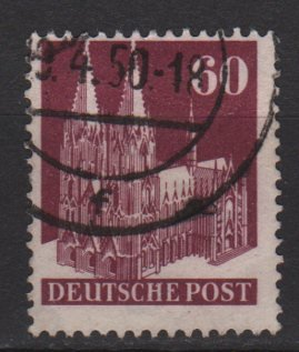 Germany 1948 - Scott 654a used - 60pf, Cologne Cathedral (13-656)