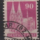 Germany 1948 -Scott 657a used - 90pf, cologne cathedral  (13-661)
