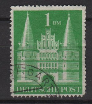 Germany 1948 -Scott 658a used - 1m, Holsten Gate Lubeck  (13-665)