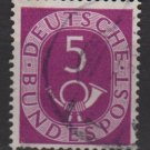 Germany 1951 - Scott 672 used - 5 pf, Numeral & Post Horn (F-253)