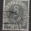 Germany 1951 - Scott 674 used - 8 pf, Numeral & Post Horn (13-668)