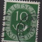Germany 1951 - Scott 675 used - 10pf, Numeral & Post Horn (13-669)