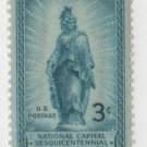 USA 1950 - Scott 989 MH  - 3c,  Statue of Freedom, National Capital (H-384)