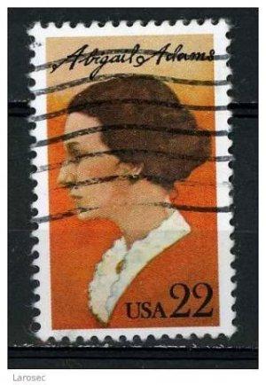 USA 1985 - Scott 2146 used - 22c, Abigail Adams  (o-595)