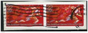 USA 1987 - Scott 2247 used - Pan American Games, Runner  (R-220)