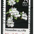 USA 1987 - Scott 2347 used - 25c, North Carolina, blossom (d-149)