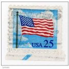 USA 1988 - Scott 2278 used - 25c, Flag & Clouds (F-171)