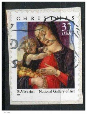 USA 1999 - Scott 3355 used -Christmas, Madonna & Child  (Q - 64)