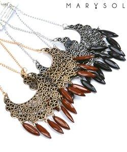 Silver tone chandelier earrings.