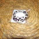 PURPLE BLACK & WHITE CHEETAH PRINT HOOP