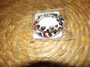 PINK BLACK & WHITE CHEETAH PRINT HOOP