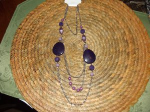 PURPLE BEADED NECKLESS