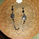 BLACK BEADED NECKLESS