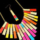 DAZZLE ME W/COLOR STATEMENT NECKLACE