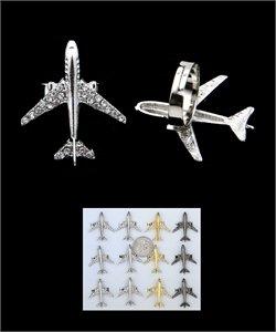 Gunmetal tone blinged out airplane ring.