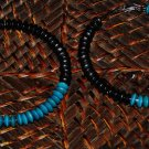 purple teal & black wooden hoops