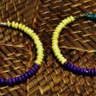Purple, teal & yellow wooden hoops