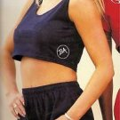 Body Alive Sport Womens Cropped Tank  Top S Black