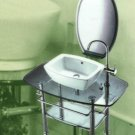 Huntington Brass Glass Vanity Sink  Set  Vessel GB1005C
