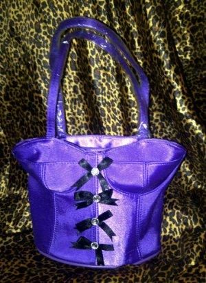 Romantic Corset Handbag Hand bag Purple