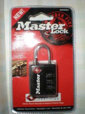 MASTER LOCK TSA Accepted Combination Lock 4680DBLK Black