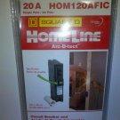 SQUARE D HOMELINE 20 A CIRCUIT BREAKER ARC FAULT CIRCUIT INTERRUPTER HOM120AFIC