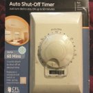 GE 60 Mins Single Pole Auto Shut Off In Wall Timer 15081 Ivory