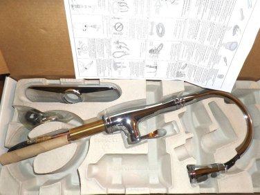 Kohler Bellera 1 or 3 Hole Pull down Lever Handle Kitchen Faucet K-560-CP Chrome