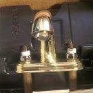 """DELTA Chateau C Spout 4"""" Centerset Sink Faucet LESS HANDLES 2583-PBLP Brass"""