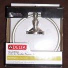 DELTA Portaman Collection Towel Ring Brushed Nickel PTM46-SN