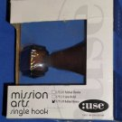 :USE Mission Arts Bath Single Robe Hook 1775.24 Rubbed Bronze