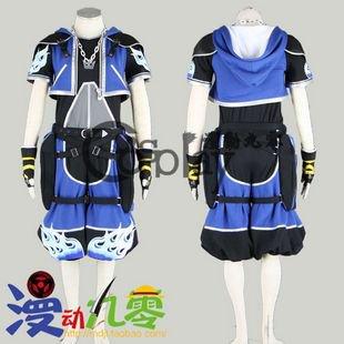 Kingdom Hearts Sora Blue Cosplay Costume