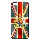 UK Flag and Royal Coat Arms iPhone 5 Slim Fit Hard Case (Black) - i5suk3
