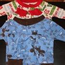 baby thrmal sleepwear/playwear christmas signature/blue moose (2) size 6 m