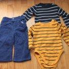 BABY PLAYWEAR PANTS/LONG SLEEVES ONSIES SET 12 m
