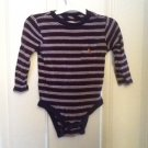 BABY GAP ONSIE BLUE/RED STRIPES SZ12-18 M 100% Cotton With Embroider Baby Bear