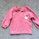 BABY BROWN RIBBED WITH RACOON EMBLEM LONG SLEEVES TOP/T-SHIRT SZ 18M