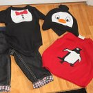 BABY WINTER HOLIDAY 4 PC SET PANTS/WEST/ONSIE/HAT SZ12-24 M BY CRAZY 8