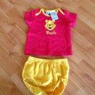 Disney Baby Pooh T-Shirt Panties Set Sz 3-6M