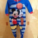 Disney Mickey Mouse Baby Fleece Sleepwear Sz 24 M
